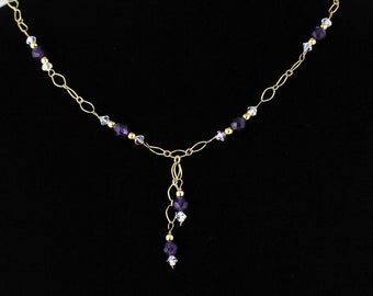Faceted Amethyst Necklace. Listing 108798531