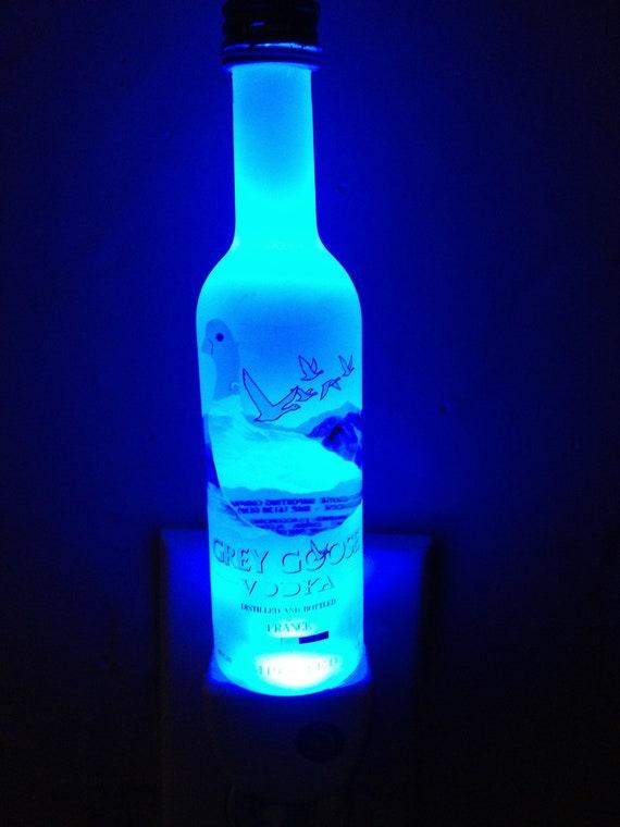 Grey Goose Vodka Mini Liquor Bottle Led Night Light