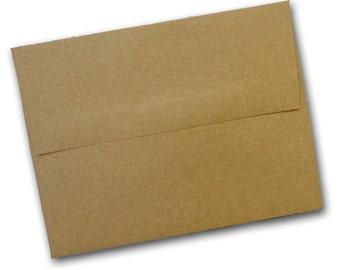 Brown Bag KRAFT  A7 SQUARE  flap Envelopes 50 pack