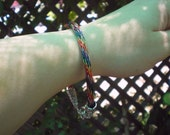 VIKING KNIT BRACELET - 9 Inch Seven Color Copper Weave - Reasonable Prices