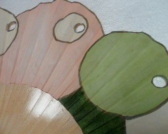 Hand-painted fan. Trousciel Cream. A