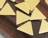 50 Pcs Raw Brass Triangle Blank (9 X 10 Mm) Brs 621-0    A0410