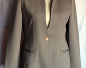 Vintage Collarless Blazer