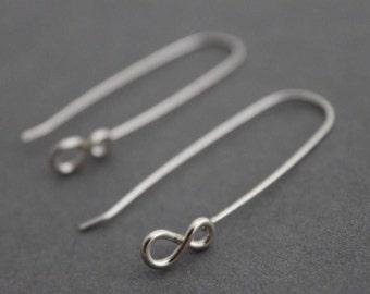 Infinity Symbol Earrings Writers block long thread boho indie figure eight