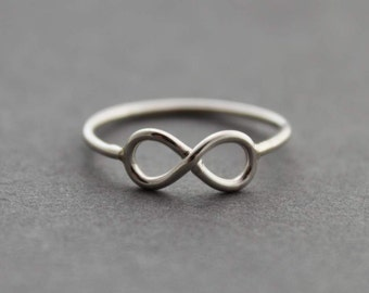 Sterling Silver Infinity ring- Made to order - READ item details BEFORE buying