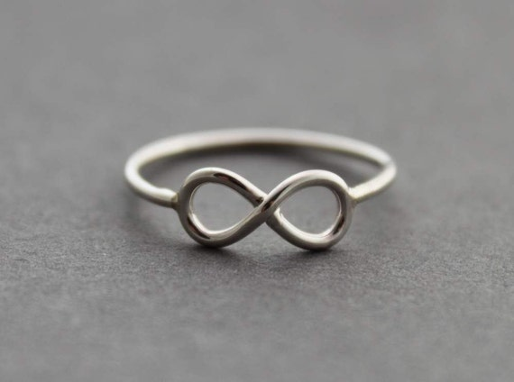Sterling Infinity Ring - Size 10.25 US/Canada