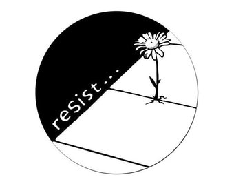 Resist Round Sticker