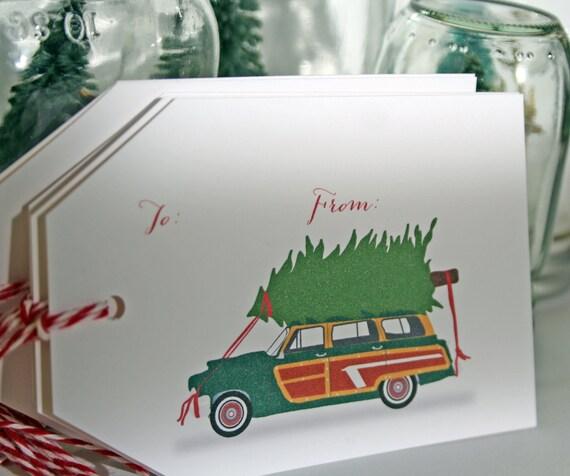 Woody Wagon Holiday Gift Tags