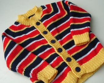 Custom knitted Ernie sweater cardigan  for toddlers