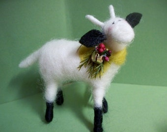 Mommy Goat Felted Wool Ornament