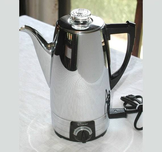 Sunbeam Percolator Coffee Maker : Sunbeam CoffeeMaster Percolator Vintage Electric Coffee Maker