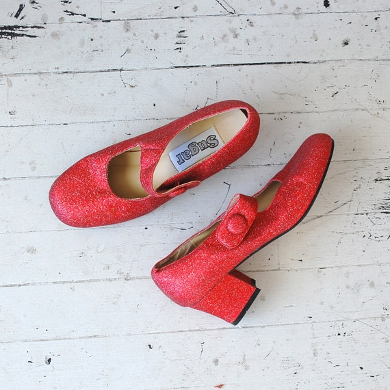 red mary janes / mod shoes / Ruby Mary Janes