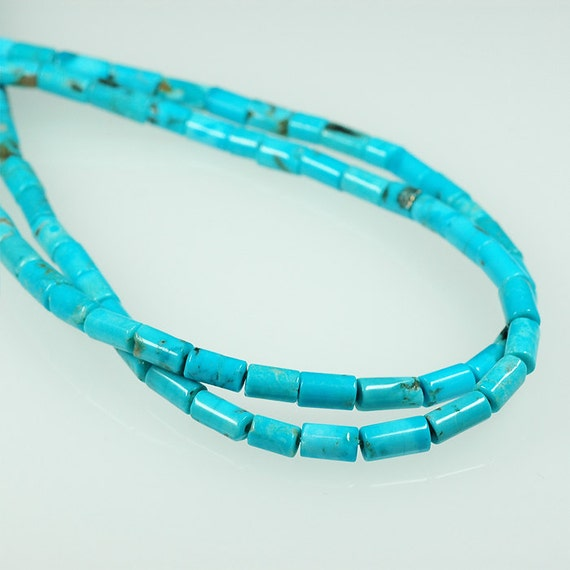 sky blue TURQUOISE  Tube beads cylinder beads 5mm x 8mm