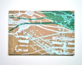Sketchbook - Stab Bound from Recycled Materials, Forest Green and Celadon