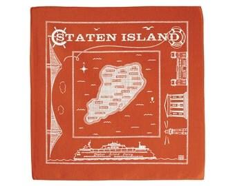 Staten Island bandanna - orange