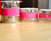 BLING pink and gold cuff (narrow width)