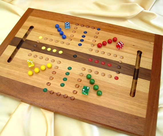 OOAK Woodcrafted Aggravation or Wahoo Game Board