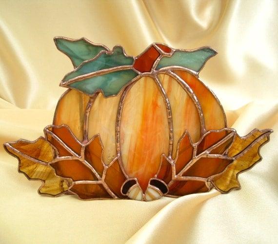 Autumn Harvest Votive Candle or Tealight Holder