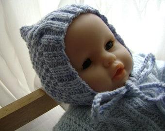 Baby Pixie, Baby Hat, Knitted Baby Hat, Warm Baby Pixie, Winter Baby Pixie,Pixie Cool Days, Knit Baby Clothing, Newborn Pixie, Newborn Hat.