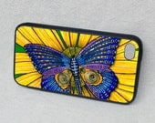 Butterfly, Sunflower, Rubber iPhone 5 or 5s case, cover, iPhone 4, iPhone 6