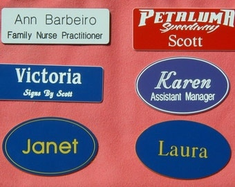 Custom Engraved Name Badges