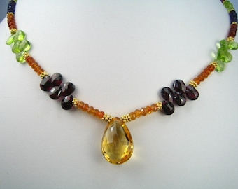 Golden Gems Stunning Jeweled Necklace