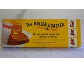 Vintage The Roller-Coaster Wind Up Rolling Drink Coasters Novelty Bar Ware by Royal London