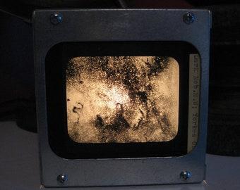 DARK NEBULA YERKES (negative image) - Vintage magic lantern glass slide light box