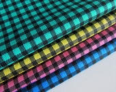 Japanese Cotton Fabric - Gingham - Fat Quarter Bundle of 4 Colors