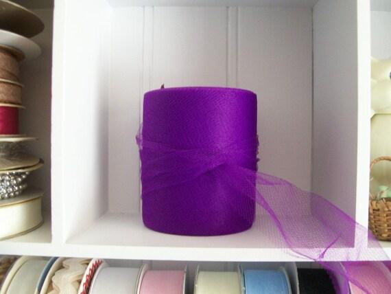 "Tulle Ribbon-Trim-3"" x 25 yard Roll-Purple"
