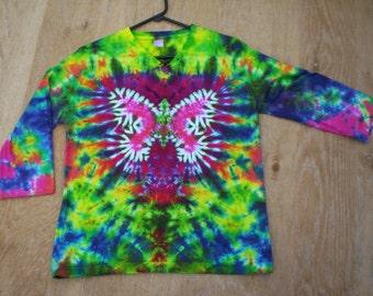 Butterfly V Neck Quarter Length Long Sleeve Tie Dye Ladies Size XL