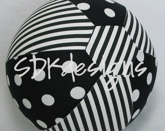 Fabric Balloon Ball Cover - TOY - Black and White Polka Dots & Stripes - Great Baby Shower Gift