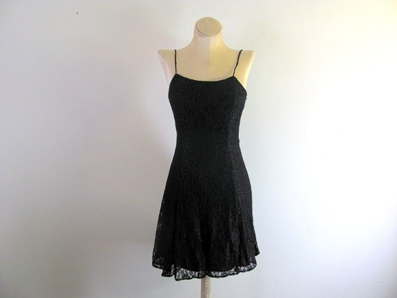 Vintage black gothic lace mini dress with jacket size 7/8