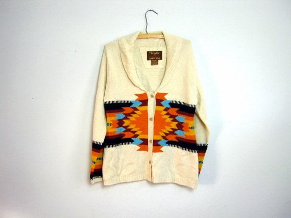 vintage southwestern cardigan sweater