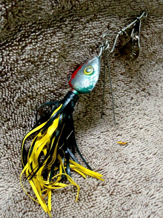 Fred arbogast co hawaiian wiggler no 1 1 2 fishing lure 1950s for Hawaii fishing lures