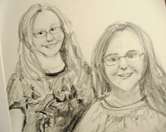 Double Portrait in Pencil - from your photo