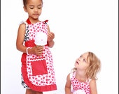 Childrens Apron Strawberry Includes One Apron