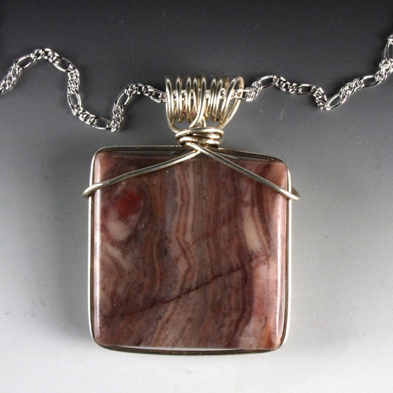 Puddingstone Jewelry, Pudding Stone Jewelry, Pudding Stone Pendant