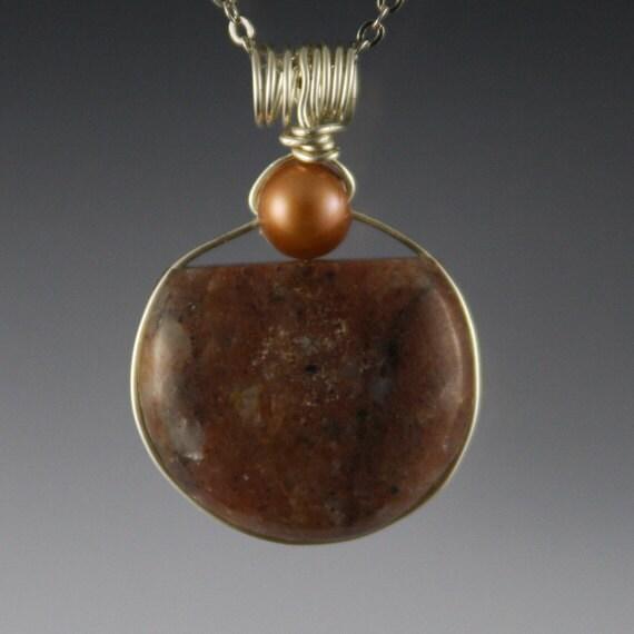 Puddingstone Jewelry Pudding Stone Pendant