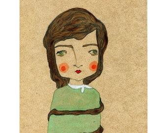 Mariella - a5 retro inspired illustration print
