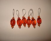 Stitch Markers - 6 Autumn Leaves