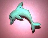 Vintage Dolphin Plastic Button 16X24MM   EL1 134