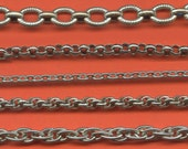 Vintage 79.5 Inches Silver Tone Mixed Style Chain H2R