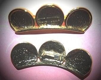 Vintage 10 Gold Plated Spots 54X16MM GR6