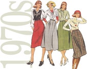 1970s Vintage Pattern - 24 Waist Skirt Sewing Pattern - Butterick 4993 - Uncut, Factory Folds