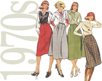 1970s Vintage Pattern - 24 Waist Skirt Sewing Pattern - Butterick 4993 - Uncut, Factory Folds