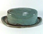 Covered ceramic butter dish on sale