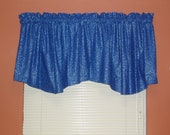 Blue and Silver Set of 2 Valances with 2 Decorative Scarves -- Blue and Silver Shooting Stars