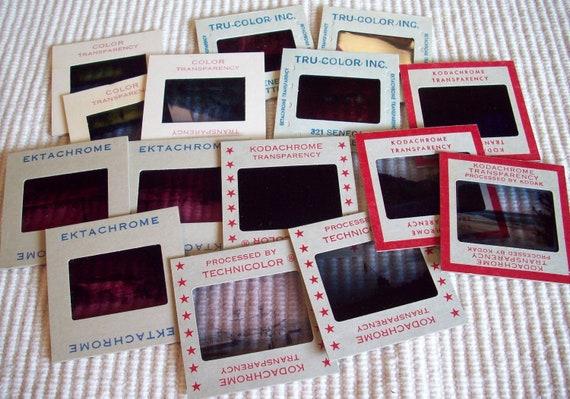 Vintage Photo Slide Mount Negatives Collectible Ephemera