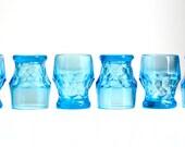 Vintage Aqua Glasses - Georgian Anchor Hocking